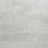 Carrelage mural blanc 20x60cm Metal ID