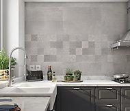 Carrelage mural carreaux de ciment gris 20 x 60 cm Paleix