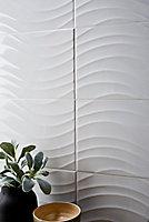 Carrelage mural Catanzaro 25 x 50 cm blanc