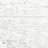 Carrelage mural décoratif Elegance 20x60 cm blanc