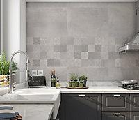 Carrelage mural gris 20 x 60 cm Paleix