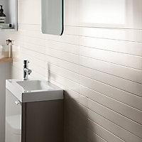 Carrelage mural gris 20x60cm Plain