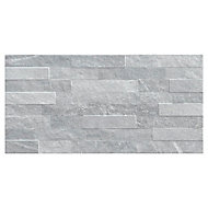 Carrelage mural gris 37,5x75cm Slate