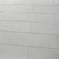 Carrelage mural gris clair 20 x 60cm Plain
