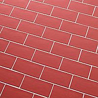 Carrelage mural rouge 7,54x15cm Vernisse