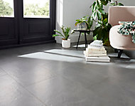 Carrelage sol anthracite 30 x 60 cm Floated