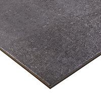 Carrelage sol anthracite 30 x 60 cm Metal ID
