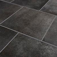 Carrelage sol anthracite 42,6 x 42,6 cm Konkrete