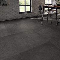 Carrelage sol anthracite 80 x 80 cm Kontainer