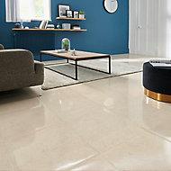 Carrelage sol beige 45 x 45 cm Elegance Marble