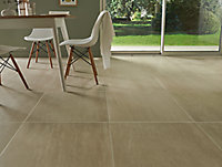 Carrelage sol beige 60 x 60 cm Soft Travertin