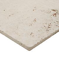 Carrelage sol beige multi formats Travertino pierre naturelle