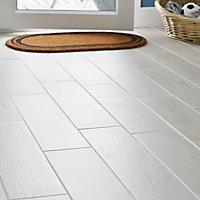Carrelage sol blanc 15 x 60 cm Arrezo