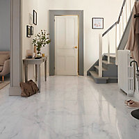 Carrelage sol blanc 30 x 60 cm Elegance Marble