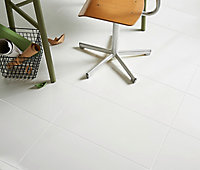 Carrelage sol blanc 30 x 60 cm Plain