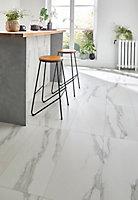 Carrelage sol blanc 37 x 75 cm Ultimate Marble