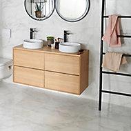 Carrelage sol blanc 60 x 60 cm Potenza marbre
