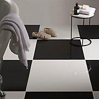 Carrelage sol blanc poli 60 x 60 cm Latinie 2