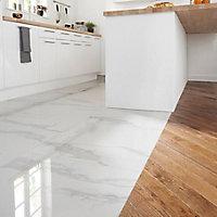 Carrelage sol blanc poli 60 x 60 cm Ultimate Marble