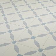 Carrelage sol bleu décor calisson 20 x 20 cm Hydrolic