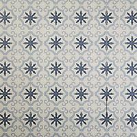Carrelage sol bleu décor flower 20 x 20 cm Hydrolic