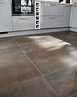 Carrelage sol cuivre lapatto 30 x 60 cm Metalized