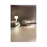 Carrelage sol et mur amande 120 x 120 cm Path (vendu au carton)