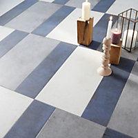 Carrelage sol et mur gris effet béton 30,8 x 61,5 cm Extrema (vendu au carton)