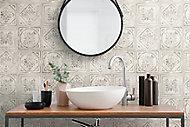 Carrelage sol et mur Koney GoodHome 20 x 20 cm ivoire