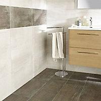 Carrelage sol et mur marron 30 x 60 cm Dourtio