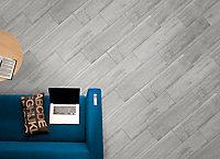 Carrelage sol et mur Nordico gris 17,8 x 62,8 cm