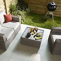 Carrelage sol extérieur beige 30 x 60 cm COLOURS Oikos