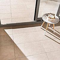 Carrelage sol extérieur beige 30 x 60 cm Natura