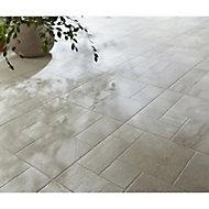Carrelage sol extérieur beige 43,6 x 43,6 cm Mixtone