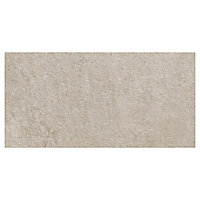 Carrelage sol grège 37,5x75cm Quartzite