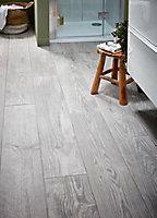 Carrelage sol gris 20 x 120 cm Cotage