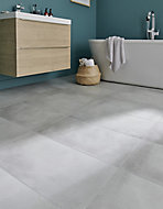 Carrelage sol gris 30 x 60 cm Smooth