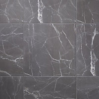 Carrelage sol gris 45 x 45 cm Elegance Marble