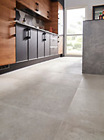 Carrelage sol gris 60 x 60 cm Smooth