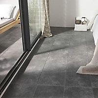 Carrelage sol gris anthracite 30 x 60 cm Tribeca (vendu au carton)