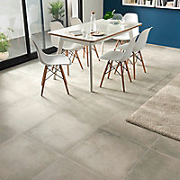 Carrelage sol gris clair 60 x 60 cm Kontainer