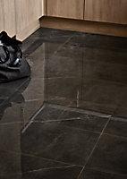 Carrelage sol gris poli 60 x 60 cm Ultimate Marble