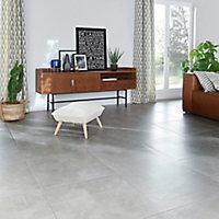 Carrelage sol intérieur 61,5 x 61,5 cm Lounge Light gris
