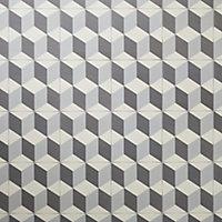Carrelage sol noir et blanc décor 3D 20 x 20 cm Hydrolic
