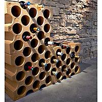 Casier 15 bouteilles en polystyrène coloris brique