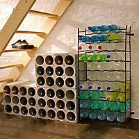 Casier simple 50 bouteilles en métal coloris bordeaux