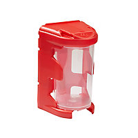 Casier à vis petit format rouge plastique