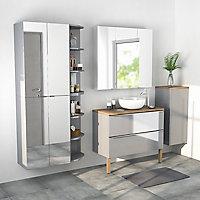 armoire et miroir de salle de bains