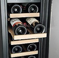 Cave à vin encastrable 20 bouteilles Noir GoodHome H.87 x L.30 x P.61,5 cm
