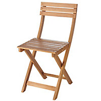 Chaise de jardin en acacia GoodHome Virginia (lot de 2)